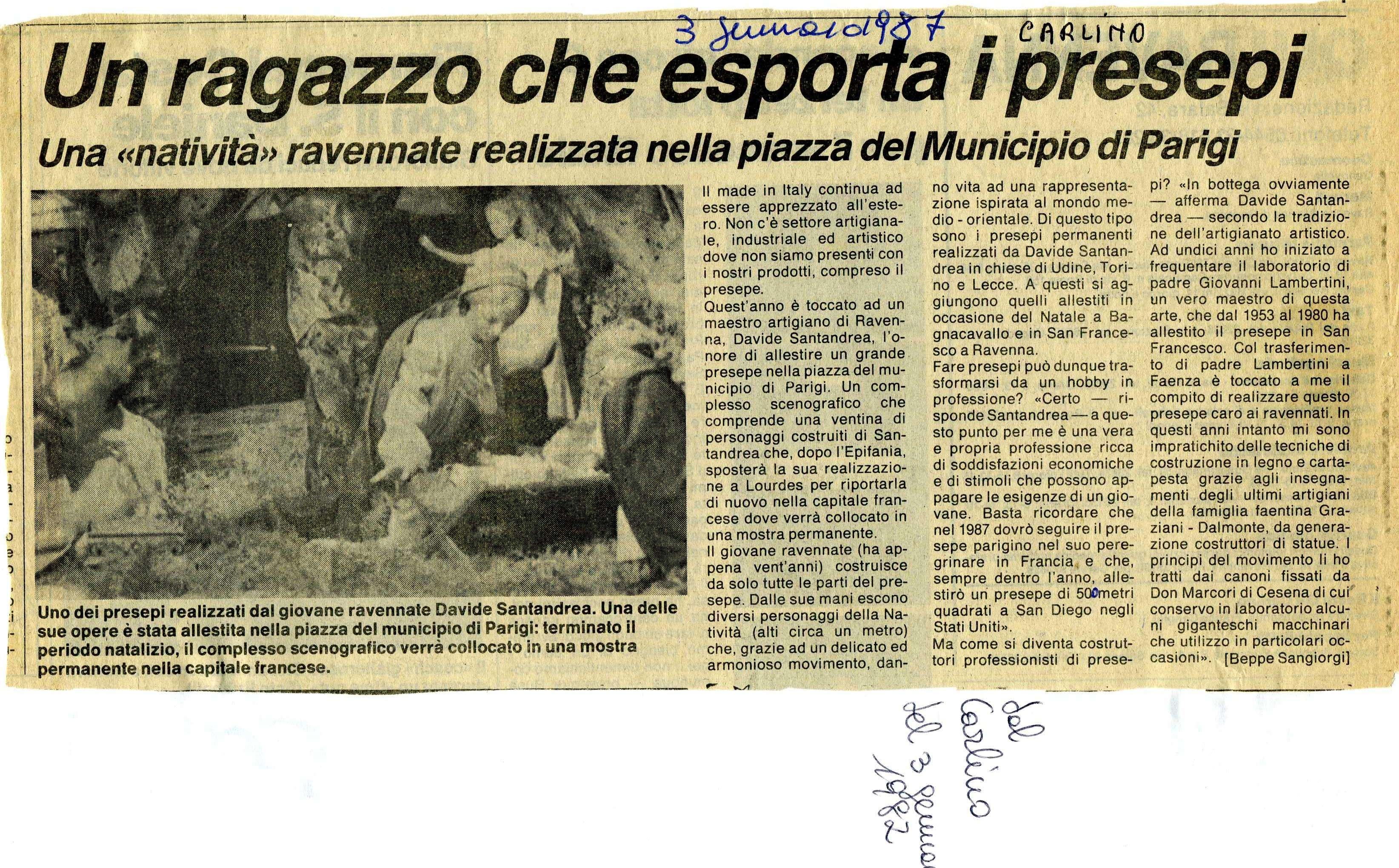 Cimitero Monumentale Predappio Fc l'artista dei presepi meccanici a castelnuovo